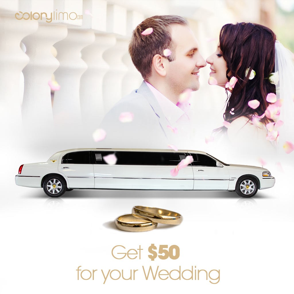 $50.00 Off for Wedding Transportation