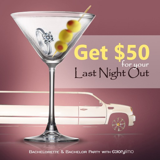 $50.00 Off for Bachelor & Bachelorette Party Limo Service!