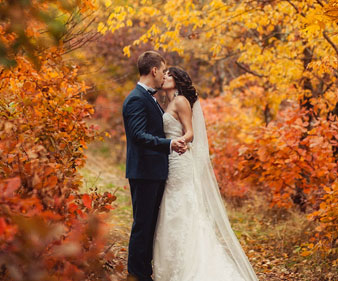 Top Spots for Fall Weddings