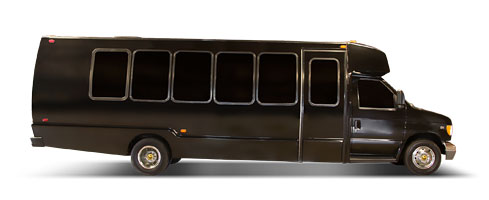 18/20 Passenger Limo Party Bus Rental Service  - Limo Service Houston