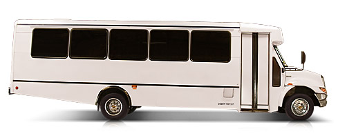 White 30 Passenger Limo Party Bus Service - Limo Service Houston