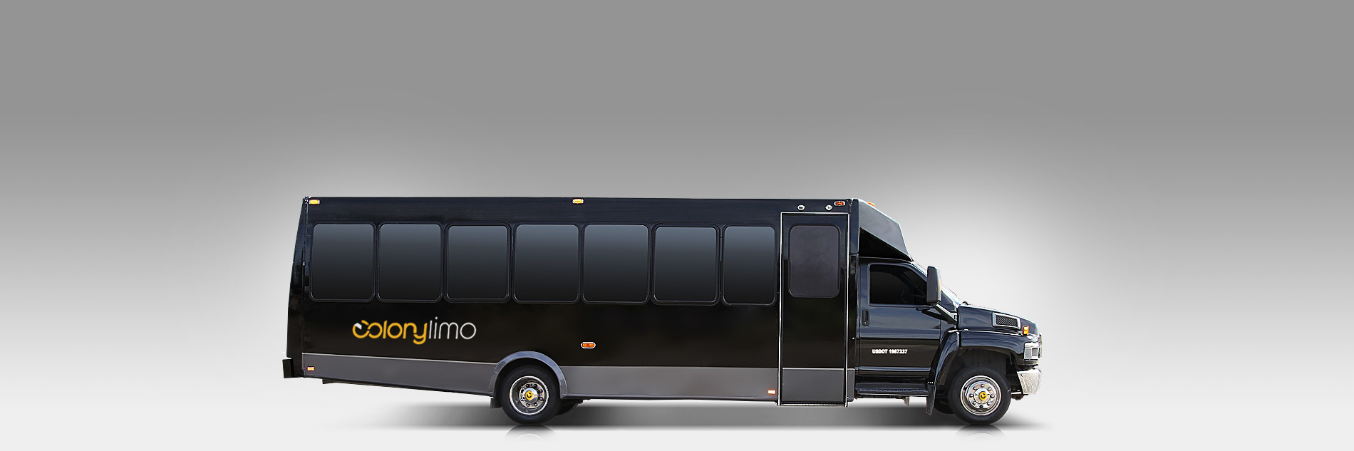 Party Bus - 30 Passenger Black - Colony Limo Service Houston